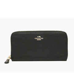 COACH Feb Bulk 女士经典时尚潮流精美长款钱包 F16612/黑色