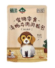 贵族犬清炖牛肉肉粒包100g*12