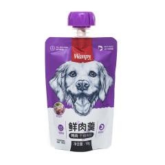 顽皮Wanpy 犬用鲜肉羹狗零食犬湿粮金毛泰迪比熊 成犬鸭肉配方 90g