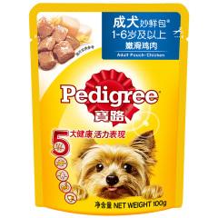 宝路 宠物狗粮狗湿粮 成犬妙鲜包 单袋装 鸡肉味100g