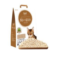 King Kitty桐木猫砂原木猫砂盆用非松木水晶膨润土砂猫厕所除臭 天然桐木配方6L(约2.6kg