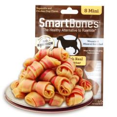 Smartbones禾仕嘉 狗狗磨牙棒狗咬胶消化性狗零食成犬幼犬洁齿骨迷你8支装 迷你美味洁齿骨(花