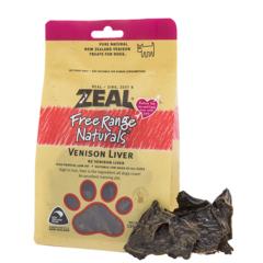 ZEAL鹿肉类宠物零食 犬用风干鹿肝片 125g 鹿肝
