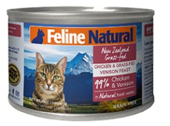 K9猫Feline Natural-天然无谷猫罐-鸡肉&鹿肉 85g