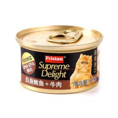 富力鲜猫用白身鲔鱼+牛肉罐头 85g 白身鲔鱼+牛肉 85g