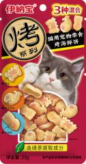 伊纳宝妙好 烤三种口味系列 蟹味、鲣鱼节味、鱿鱼味 25g
