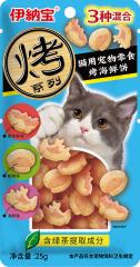伊纳宝妙好烤海鲜混合口味(金枪鱼味、蛤蜊味、海鲜味) 25g/袋 25g