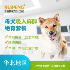 【新瑞鹏华北】母犬吸入麻醉绝育套餐(基础版) 母犬呼吸麻醉 10kg以下