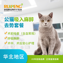 【新瑞鹏华北】公猫吸入麻醉去势套餐(基础版) 公猫【呼吸麻醉】 公猫【呼吸麻醉】