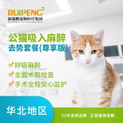 【新瑞鹏北京】公猫吸入麻醉去势套餐(尊享版) 公猫【呼吸麻醉】 公猫【呼吸麻醉】