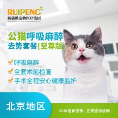 【新瑞鹏华北】公猫吸入麻醉去势套餐(至尊版) 公猫【呼吸麻醉】 去势套餐