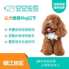 【镇江安安宠医】5kg以下公犬去势套餐,节假日通用 5kg以下公犬绝育(吸麻) 去势套餐