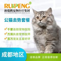 【成都通用】公猫超值去势套餐 公猫【呼吸麻醉】 0-5kg