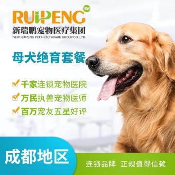 【成都通用】母犬超值绝育套餐 母犬【呼吸麻醉】 0-5kg