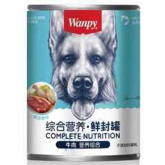 顽皮 犬用罐头宠物拌饭零食375g 多口味可选 牛肉罐头375g