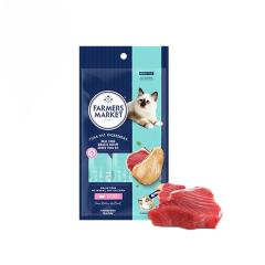 澳洲Farmers Market/蓝宝食进口流质猫条湿粮 DHA吞拿鱼幼猫12g*4