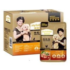 麦富迪湿粮罐头肉粒包12包*95g 浓汤鸡肉 95g*12包