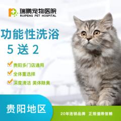 【新春】【贵阳瑞鹏】猫咪功能性洗浴 5送2 美毛护肤、抗菌止痒(短毛) 0-2 kg