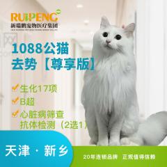【新瑞鹏天津+新乡】猫咪呼吸麻醉去势/绝育术【尊享版】 公猫去势(尊享版) 0-5kg