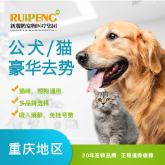 【重庆专享】5公斤公猫/犬微创无痛去势套餐(豪华套餐)