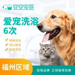 【安安宠医福州】爱宠喵星人6次洗澡套餐 猫咪洗浴<10kg 短毛