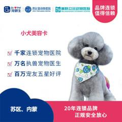 【宠颐生苏区、内蒙、锦州】小犬美容卡 狗狗 0-5kg