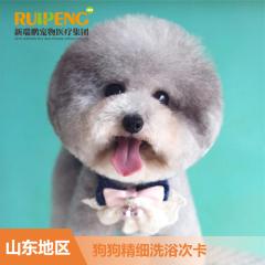 【新春】【新瑞鹏山东地区】狗狗洗浴次卡0-6kg 狗狗清洁洗浴20次卡 0-6kg