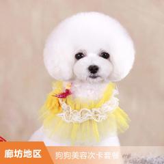 【新瑞鹏廊坊】狗狗美容次卡套餐 买3赠3 0-6kg