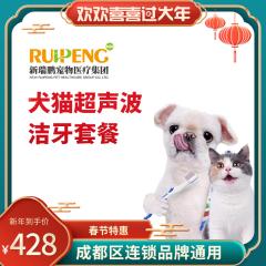 【成都春节特惠】犬猫超声波洁牙套餐 犬猫 ≤10kg