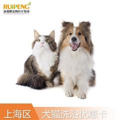 【阿闻上海】美毛犬5次/猫3次洗浴优惠卡(市区版) 猫2-5kg