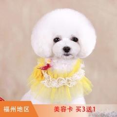 【福泉】犬美容次卡买3送1;买5送2 买3送1 0-3KG