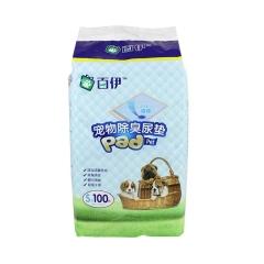 百伊 宠物尿垫彩装S码 (芒果香)33*45cm 100片/包