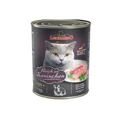 德国进口小李子猫罐头Leonardo莱昂纳多无谷主食猫罐(兔肉配方) 800g/罐