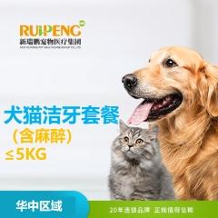 【华中区域】洁牙套餐(含麻醉) 狗狗 0-5KG