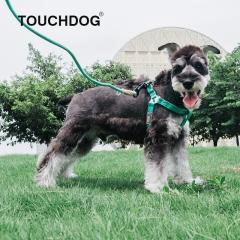 Touchdog 遛狗绳宠物用品 2013YZH004 绿色-M(圆牵绳+胸背)