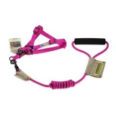 Touchdog 遛狗绳宠物用品 2013YZH012 粉红-L(圆牵绳+背带)