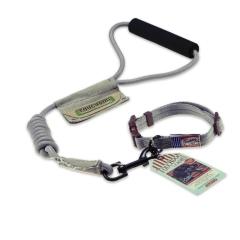 Touchdog 遛狗绳宠物用品 2013YZC005 灰色-L(圆牵绳+脖圈)