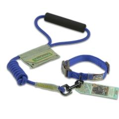 Touchdog 遛狗绳宠物用品 2013YZC009 蓝色-S(圆牵绳+脖圈)