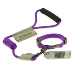 Touchdog 遛狗绳宠物用品 2013YZC002 紫色-S(圆牵绳+脖圈)