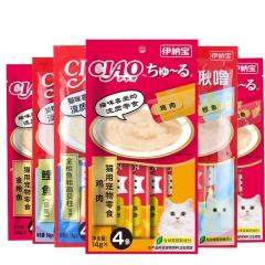 伊纳宝 猫咪零食 妙好啾噜猫条 鸡肉口味 14g×4条