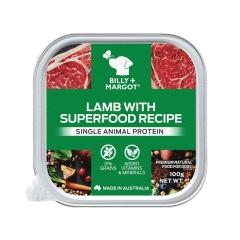 Billy+Margot比利玛格 犬用羊羔肉搭配超级食材餐盒 100g