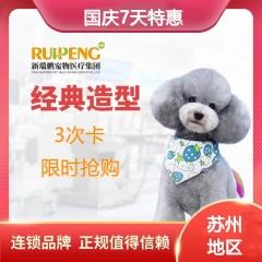 【苏州阿闻】双11专享萌宠经典造型4次卡(犬) 犬 0-3KG